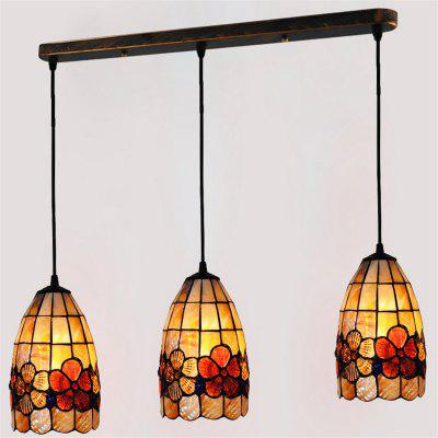 Buy COLORMIX Modern Art Nordic Shell Patch Lamp Shade Lustre Hanging Pendant Light Fixtures Handicrafts Chandelier Restaurant Kitchen Coffee Bar Luminaire BKDD-74 for $182.93 in GearBest store