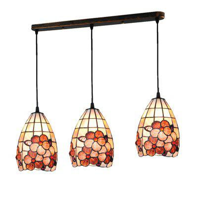 Buy COLORMIX Modern Art Nordic Shell Patch Lamp Shade Lustre Hanging Pendant Light Fixtures Handicrafts Chandelier Restaurant Kitchen Coffee Bar Luminaire BKDD-75 for $172.99 in GearBest store