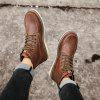 Men's Casual Casual Flat Boots - BROWN
