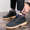 Fashionable  Leather Martin Boots for Men - BLACK