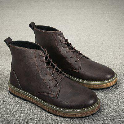 """Fashionable Casual Martin Boots for MenMens Boots<br>Fashionable Casual Martin Boots for Men<br><br>Boot Height: Ankle<br>Boot Type: Fashion Boots<br>Closure Type: Lace-Up<br>Embellishment: None<br>Gender: For Men<br>Heel Hight: Flat(0-0.5"""")<br>Heel Type: Flat Heel<br>Outsole Material: Rubber<br>Package Contents: 1 x Boots (pair)<br>Pattern Type: Others<br>Season: Winter, Spring/Fall<br>Toe Shape: Round Toe<br>Upper Material: PU<br>Weight: 1.7160kg"""
