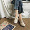 YQ-WA85 Round All-Match Tie with Coarse Small Leather Shoes Casual Shoes - OFF-WHITE