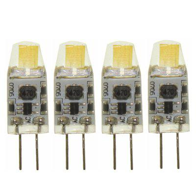4Pcs G4 COB LED Bulb 1W (10W Halogen Bulb Replacement)  AC/DC 12 Volt  Not Dimmable Daylight White