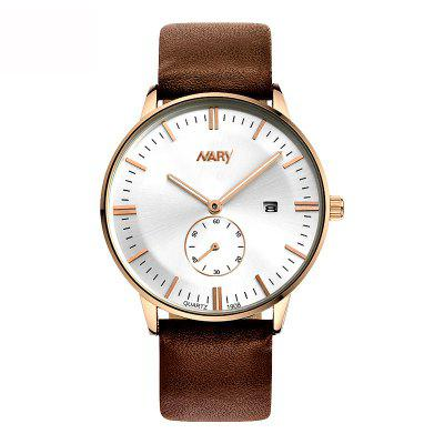 Buy NARY 4736 Gentleman Style Fashion Calendar Displays Quartz Core Mens Watches with Boxes, ROSE GOLD AND WHITE, Watches & Jewelry, Men's Watches for $9.85 in GearBest store