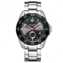 CURREN 1155 European and American Style Fashion Trend Large Dial Quartz Core Watch with Box