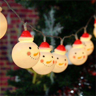 JIAWEN Snowman String Lights Fairy LED Christmas Light Home Garden of Battery Powered