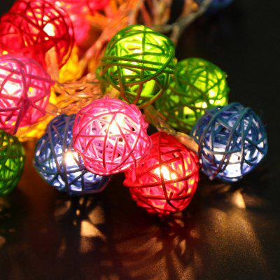 Buy JIAWEN LED String Light 4m 20 LEDs Fairy Rattan Balls for Holiday Christmas Wedding Decoration Party, RGB COLOR, EU, LED Lights & Flashlights, Indoor Lights, Novelty lighting for $7.33 in GearBest store