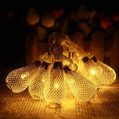 Buy WARM WHITE LIGHT US Jiawen Silver Bulb LED String Light 4M 20 Leds Water Drop Christmas Lights 8 Modes for Holiday Party Wedding Decoration AC 110 220V for $9.57 in GearBest store