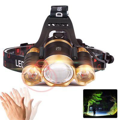 YWXLight XPE-T6 2000Lm White Light Telescopic Zoom Intelligent Induction LED Headlamp