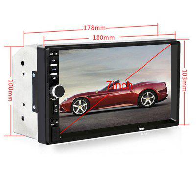KELIMA 7-inch HD Car FM Machine Bluetooth MP5 Player - Black + SilverFM Transmitters &amp; Players<br>KELIMA 7-inch HD Car FM Machine Bluetooth MP5 Player - Black + Silver<br><br>Built-in EQ: Pops<br>Color: Black<br>Compatible with: MP5<br>Connection: Bluetooth<br>Features: with MP3<br>FM Channel: 87.5~108MHz<br>Interface: USB 2.0<br>Language: No<br>Material: Plastic, Metal<br>Media Format: MP3<br>Micro SD/TF Card Expansion (Max.): 32GB<br>Model: 7018B<br>Music Source: TF/Micro SD Card<br>Package Contents: 1 x Car MP5 Host, 1 x Card Remote Control, 2 x Match Lines, 1 x Manual<br>Package size (L x W x H): 20.50 x 16.00 x 11.50 cm / 8.07 x 6.3 x 4.53 inches<br>Package weight: 0.6870 kg<br>Product size (L x W x H): 18.00 x 10.00 x 7.00 cm / 7.09 x 3.94 x 2.76 inches<br>Product weight: 0.4850 kg<br>Screen resolution: 800 x 480<br>Screen size: 7inch<br>SNR (dB): 60DB<br>Transmit Distance: 10M<br>U-Disk Expansion (Max.): 32GB<br>Voltage: 12V
