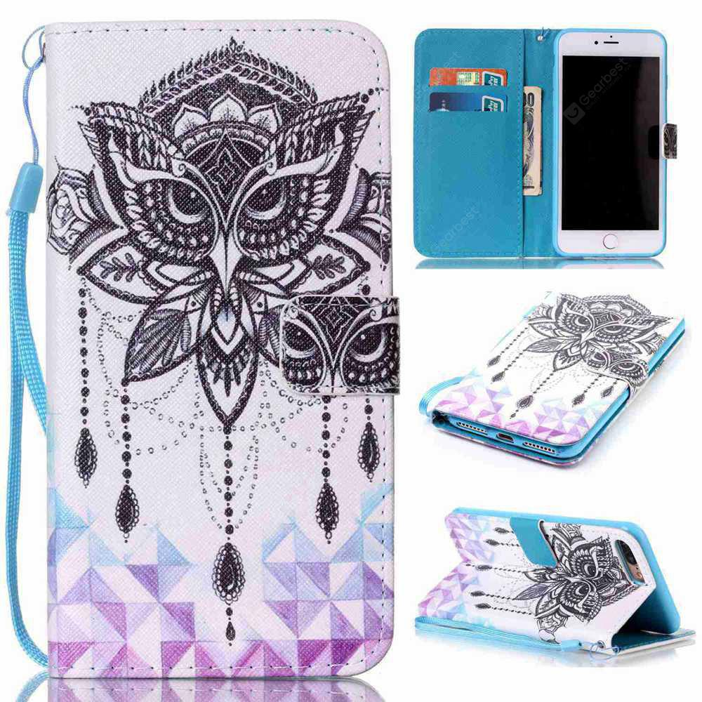 Eagle Campbell Painted PU Phone Case for iPhone 7 Plus / 8 Plus