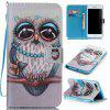 Gray Owl Painted PU Phone Case for Iphone 7 Plus / 8 Plus - COLORMIX