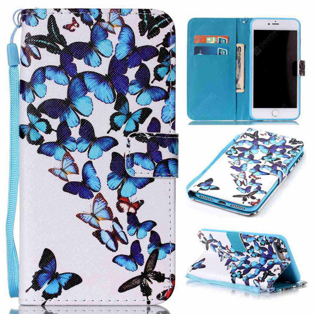 Custodia in pelle verniciata Butterfly per iPhone per Iphone 7 Plus / 8 Plus