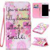 Pink Smile Painted PU Phone Case for Iphone 7 Plus / 8 Plus - COLORMIX