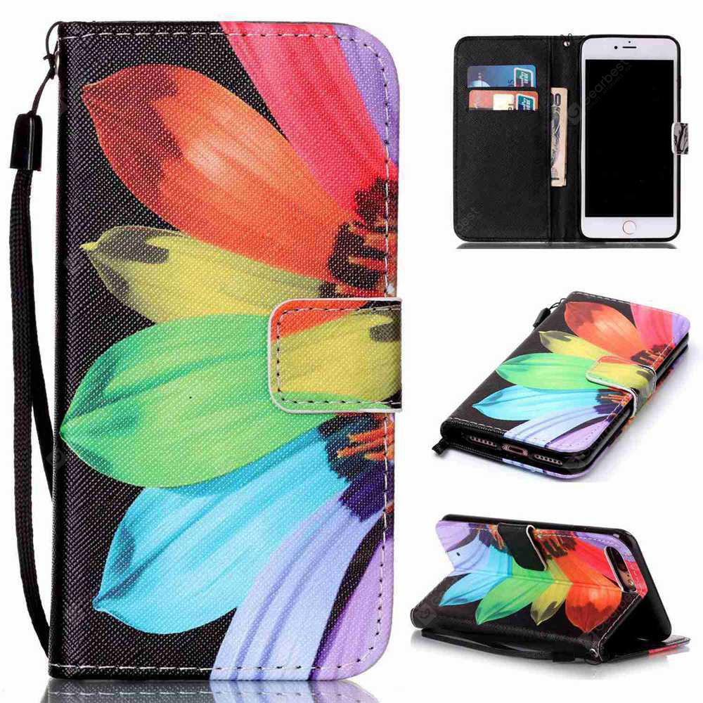 Sunflower Painted PU Phone Case for iPhone 7 Plus / 8 Plus