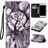 Black and White Trees Painted PU Phone Case for Iphone 7 Plus / 8 Plus - COLORMIX