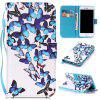 Group Butterfly Painted PU Phone Case for Iphone 7 / 8 - COLORMIX