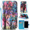 Colored Tree Painted PU Phone Case for Iphone 7 / 8 - COLORMIX