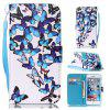 Group Butterfly Painted PU Phone Case for iPhone 6 Plus / 6S Plus - COLORMIX