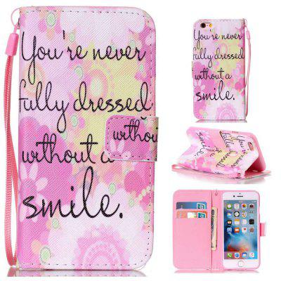 Pink Smile Painted PU Phone Case for iPhone 6 Plus / 6S Plus