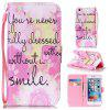 Pink Smile Painted PU Phone Case for iPhone 6 Plus / 6S Plus - COLORMIX