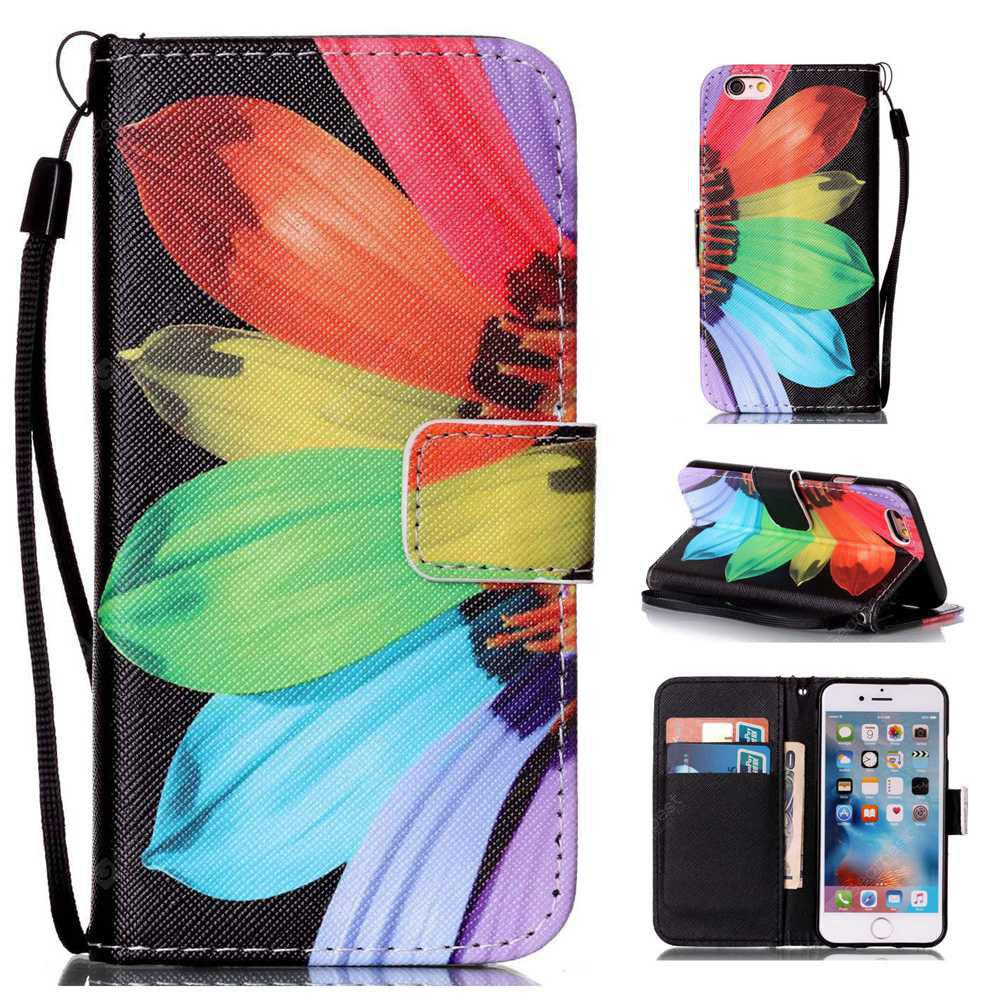 Sunflower Painted PU Phone Case for iPhone 6 Plus / 6S Plus