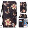 Golden Butterfly Painted PU Phone Case for iPhone 6 Plus / 6S Plus - COLORMIX