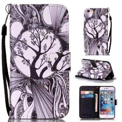 Black and White Trees Painted PU Phone Case for iPhone 6 Plus / 6S Plus
