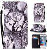 Black and White Trees Painted PU Phone Case for iPhone 6 Plus / 6S Plus - COLORMIX
