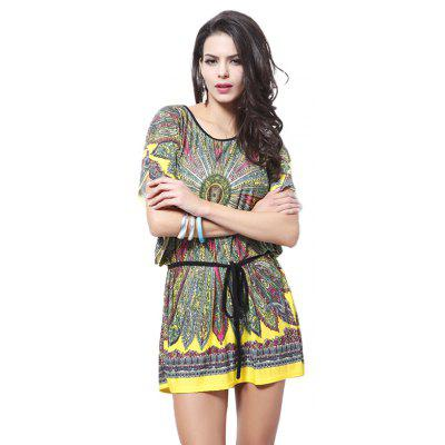 National Printing Waist Bat Sleeve Ice Silk DressWomens Dresses<br>National Printing Waist Bat Sleeve Ice Silk Dress<br><br>Dresses Length: Mini<br>Elasticity: Elastic<br>Fabric Type: Broadcloth<br>Material: Polyester<br>Neckline: Round Collar<br>Package Contents: 1 x Dress<br>Pattern Type: Print<br>Season: Summer<br>Silhouette: Straight<br>Sleeve Length: Short Sleeves<br>Sleeve Type: Batwing Sleeve<br>Style: Ethnic Style<br>Waist: Natural<br>Weight: 0.2000kg<br>With Belt: Yes