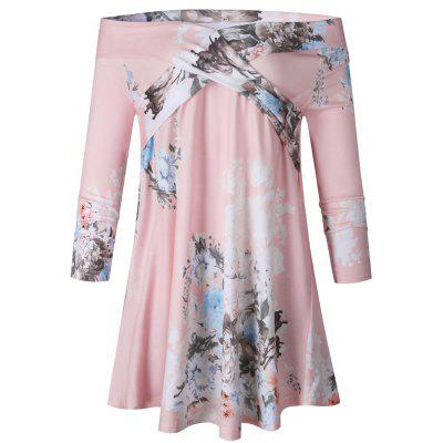 Buy PINK L 2017 The New Autumn Chest Wrap Fashion Print Top T-Shirt for $22.14 in GearBest store