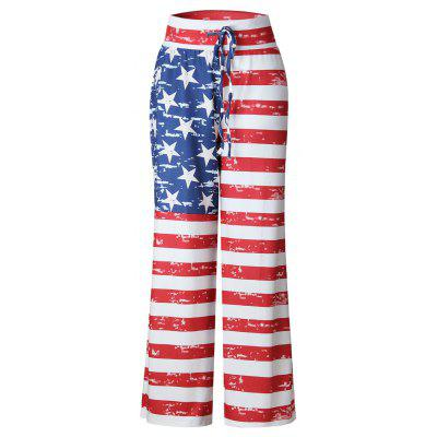 2017 New Autumn Fashion Loose Independence Day Flag Pants