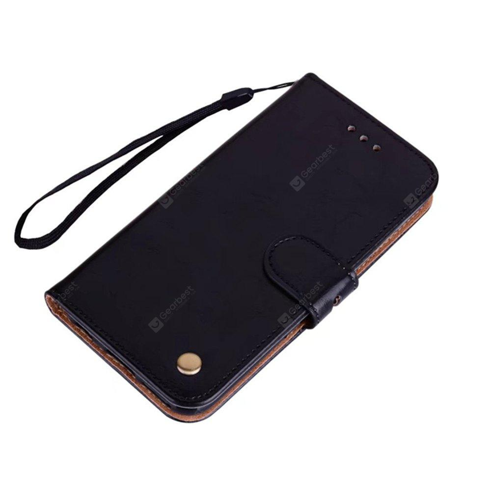 Wrist Strap Flip Folio Kickstand Feature PU Leather Wallet Case with ID Credit Card Pockets Applicable for IPhone X