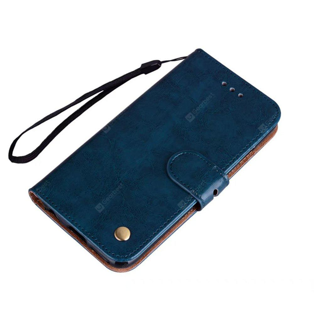 Cinturino da polso Flip Folio Kickstand Feature Custodia in pelle con borchie per carta di credito applicabile per IPhone X