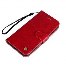 Wrist Strap Flip Folio Kickstand Feature PU Leather Wallet Case with ID Credit Card Pockets For Red Rice Note 4X