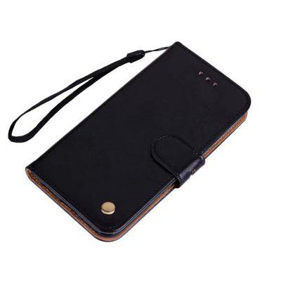 Wrist Strap Flip Folio Kickstand Feature PU Leather Wallet Case with ID Credit Card Pockets For Samsung Galaxy Note 8