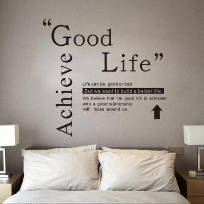 DSU Good Life Wall Sticker Citazioni Inglese Motto Camera da letto Camera Da Letto Camera Decal