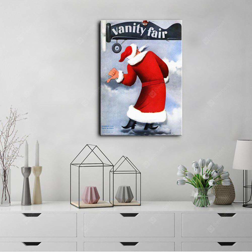 YHHP Canvas Print Poster Santa Claus Wall Decor for Home Decoration