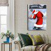 YHHP Canvas Print Poster Santa Claus Wall Decor for Home Decoration - COLORMIX