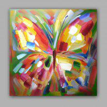 Happy Art Handed Top Grade Canvas Abstract Animal Butterfly Oil Painting  Wall Art