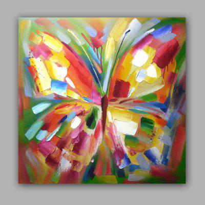 Happy Art Handed Top Grade Canvas Abstract Animal Butterfly Oil ...