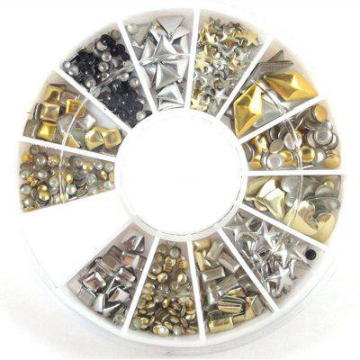 240PCS Nail Art Mixed Rivet Shapes Acrylic Rhinestone Nail Art DecorationsNail Art Accessories<br>240PCS Nail Art Mixed Rivet Shapes Acrylic Rhinestone Nail Art Decorations<br><br>Application: Finger Nail<br>Material: Metal<br>Package Contents: 1 x box of nail art decorations<br>Package size (L x W x H): 6.00 x 6.00 x 0.80 cm / 2.36 x 2.36 x 0.31 inches<br>Package weight: 0.0120 kg