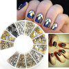 240PCS Nail Art Mixed Rivet Shapes Acrylic Rhinestone Nail Art Decorations - COLORMIX