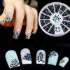 1 Box Glitter AB Black Acrylic Rhinestones Nail Art Decorations - COLORMIX
