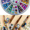 Kleurrijke Sharp Crystal 3D Nail Rhinestone Wheel Glitterende Glitter Nail Art Tips Decoratie Tools - COLORMIX
