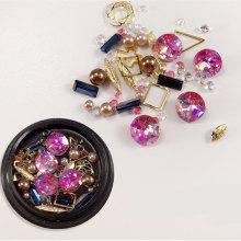 1 Box Decorative Big Jewel Metal Pearl Accessories Mixed Style  Nail Art Decoration 80PCS