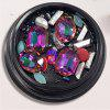 1 Box Decorative Multicolor Red Big Jewel Pearl Accessories Mixed Style  Nail Art Decoration 80PCS - COLORMIX