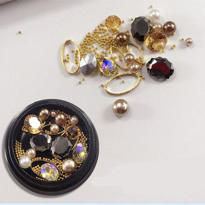 1 Box Decorative Big Jewel Pearl Accessories Mixed Style Nail Art Decoration 80PCS