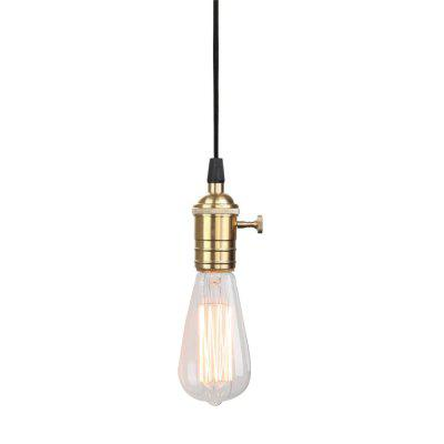 Buy COPPER COLOR Brightness Nordic Vintage Industrial Copper Lamp Base Droplight With Switch Pendant Light Hanging Ceiling Lamp for $28.04 in GearBest store