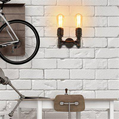 Brightness Loft Retro Industrial Style Wall Sconce Restaurant And Bar Metal Water Pipe Wall lamp 2 HeadWall Lights<br>Brightness Loft Retro Industrial Style Wall Sconce Restaurant And Bar Metal Water Pipe Wall lamp 2 Head<br><br>Brand: Brightness<br>Bulb Base: E27,E26<br>Bulb Included: No<br>Finish: Painting<br>Fixture Material: Metal<br>Light Direction: Ambient Light<br>Number of Bulbs: 2<br>Overall Depth ( CM ): 14<br>Overall Height ( CM ): 15<br>Overall Width ( CM ): 23<br>Package Contents: 1 x Lights, 1 x Assembly Part<br>Package size (L x W x H): 25.00 x 15.00 x 15.00 cm / 9.84 x 5.91 x 5.91 inches<br>Package weight: 1.5000 kg<br>Product size (L x W x H): 14.00 x 23.00 x 15.00 cm / 5.51 x 9.06 x 5.91 inches<br>Product weight: 1.2000 kg<br>Production Mode: Self-produce<br>Selling Point: Mini Style<br>Style: Vintage antique, Antique, Rustic Lodge, Vintage<br>Suggested Room Size: 5 - 10 Square Meters<br>Type: Wall Sconces<br>Voltage: 220 - 240V,110 - 120V<br>Wattage: 120W<br>Wattage per Bulb ( W ): 60